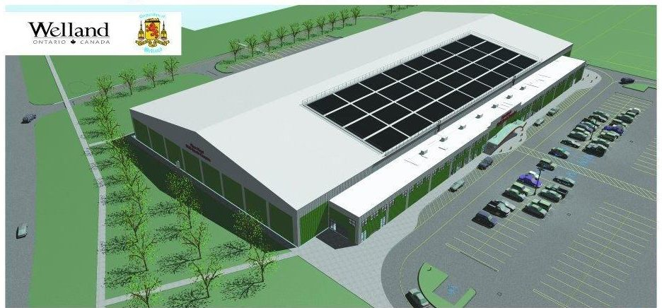 A sportsplex in Welland, Ont., developed by Sportstar Capital.