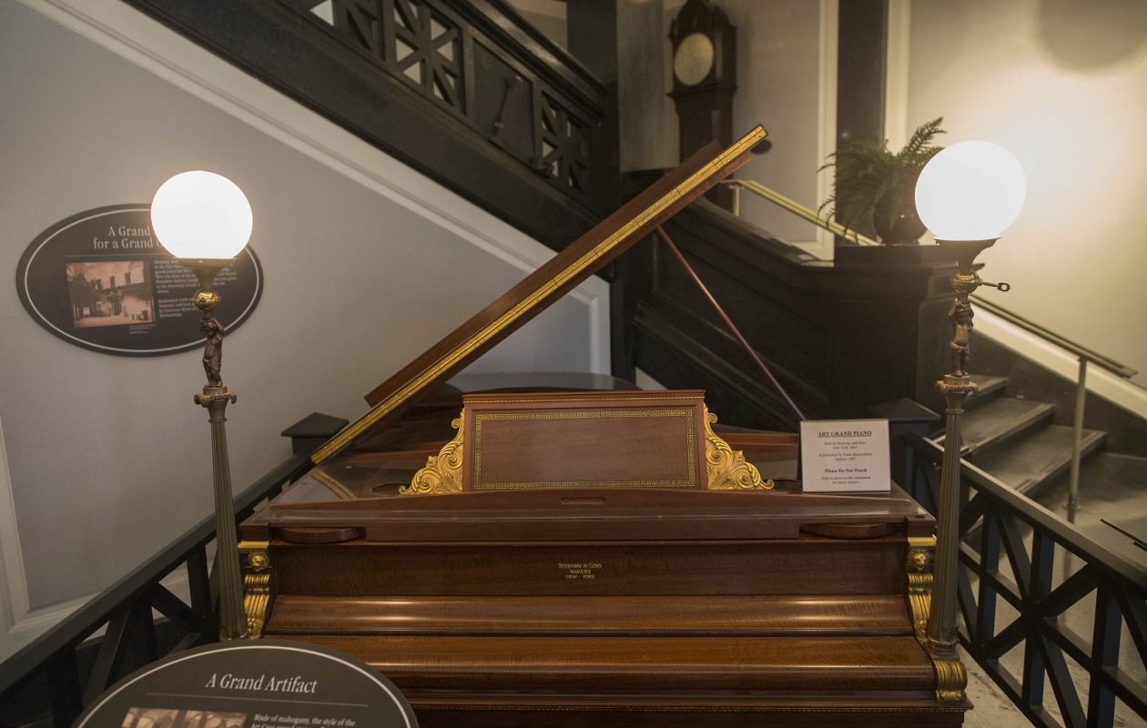 The Steinway and Sons grand piano at the Buffalo History Museum. (Derek Gee/News file photo)