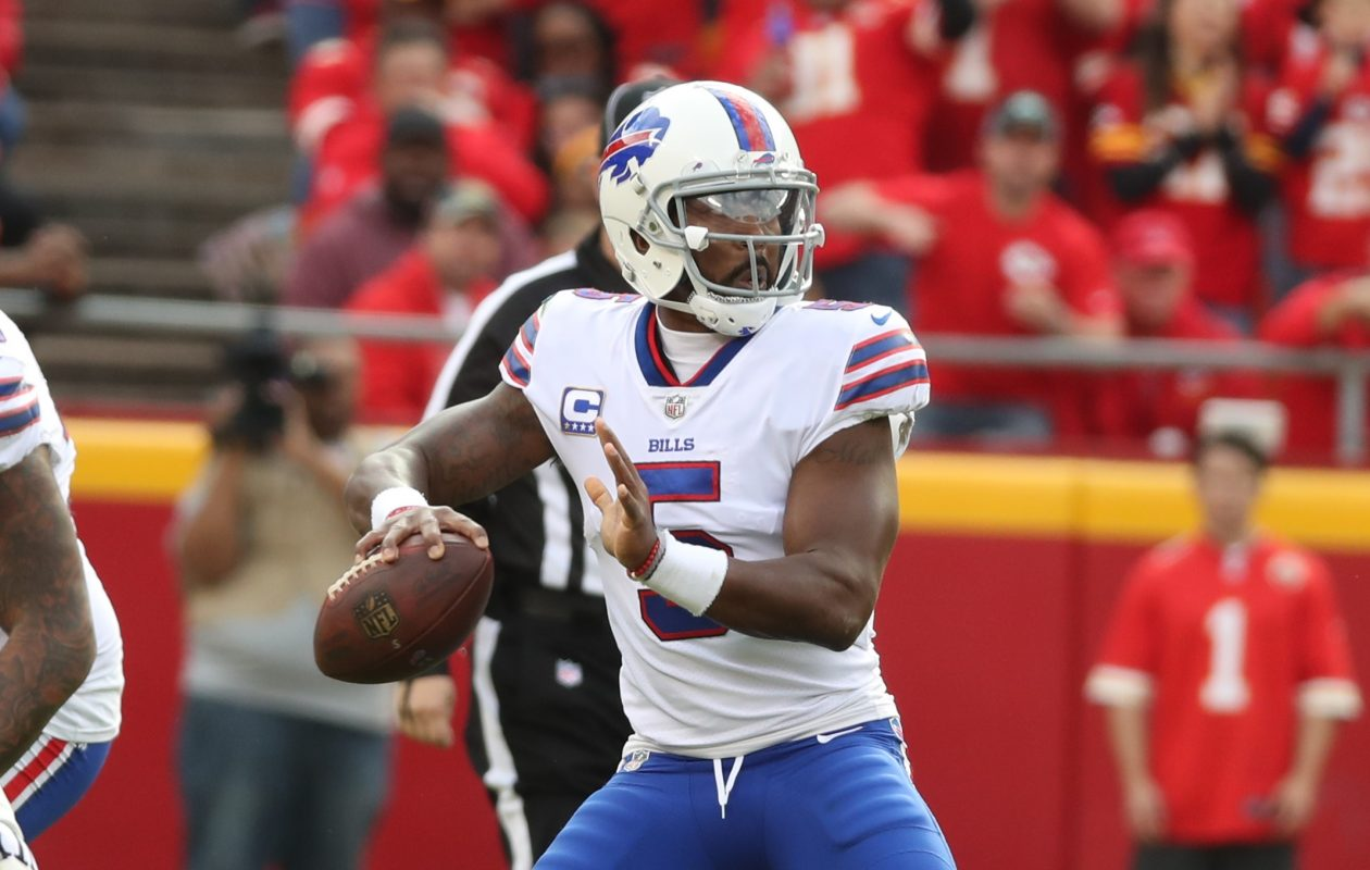 Bills quarterback Tyrod Taylor participated fully in practice Wednesday. (James P. McCoy/Buffalo News)