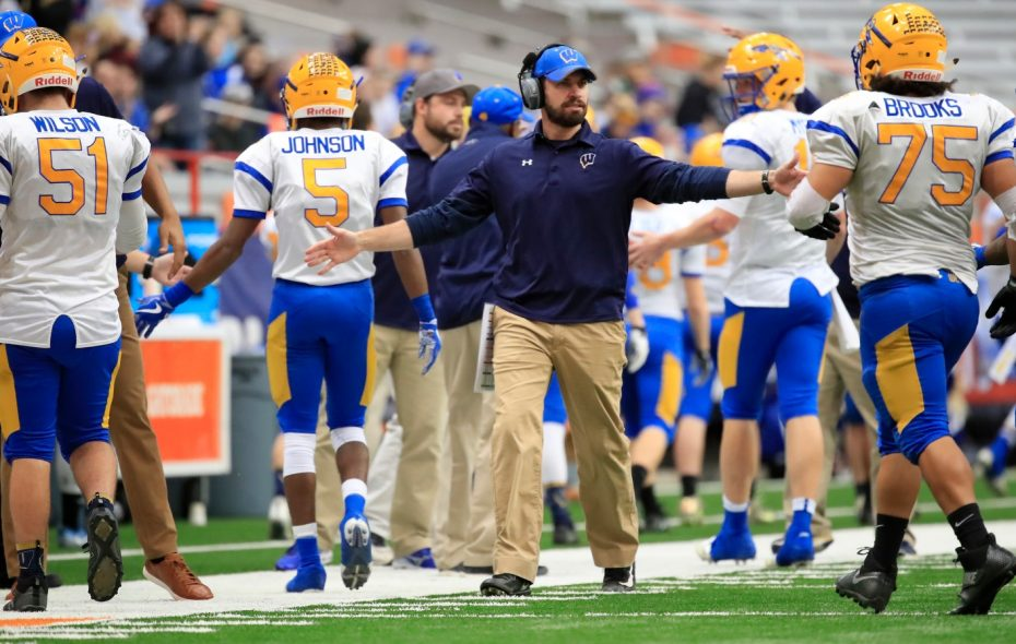 West Seneca West coach Mike Vastola guided the Indians to a perfect 13-0 record and their first sectional, regional and state championships. (Harry Scull Jr./Buffalo News)