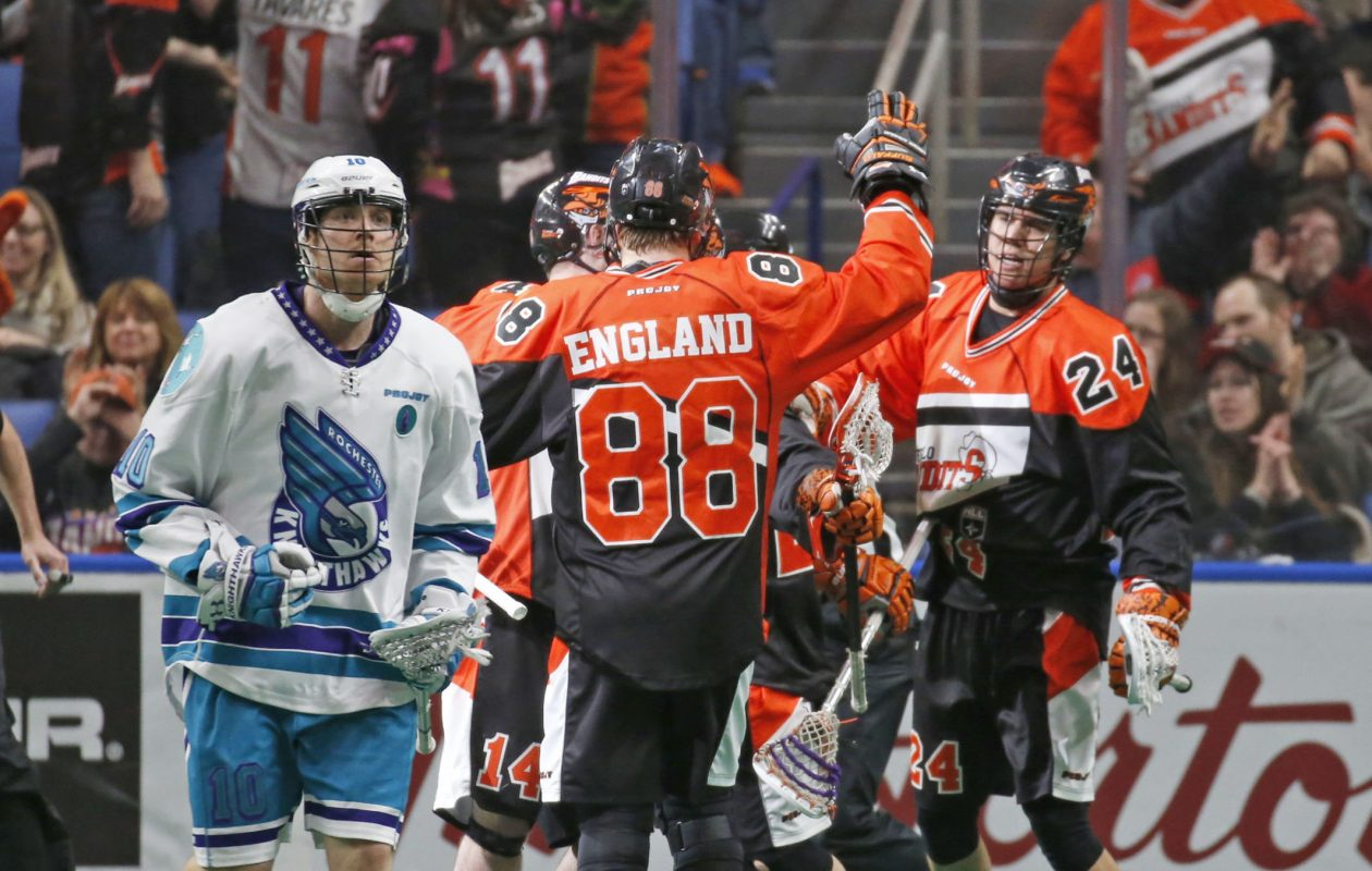 The Buffalo Bandits won six of its 18 games in 2017, tied for a franchise low, and finished in last place in the league for the first time since 2013. (Robert Kirkham/News file photo)