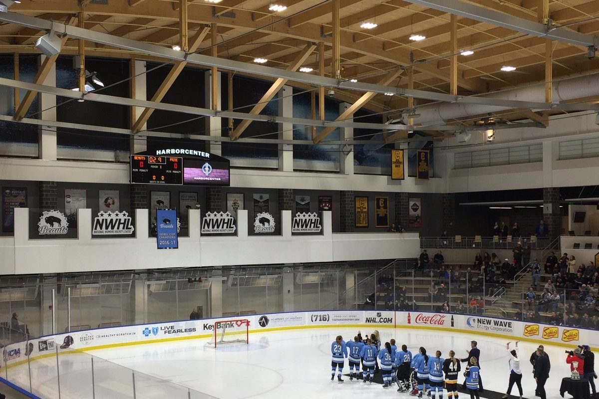 The Buffalo Beauts unfurled their banner as Isobel Cup champions.