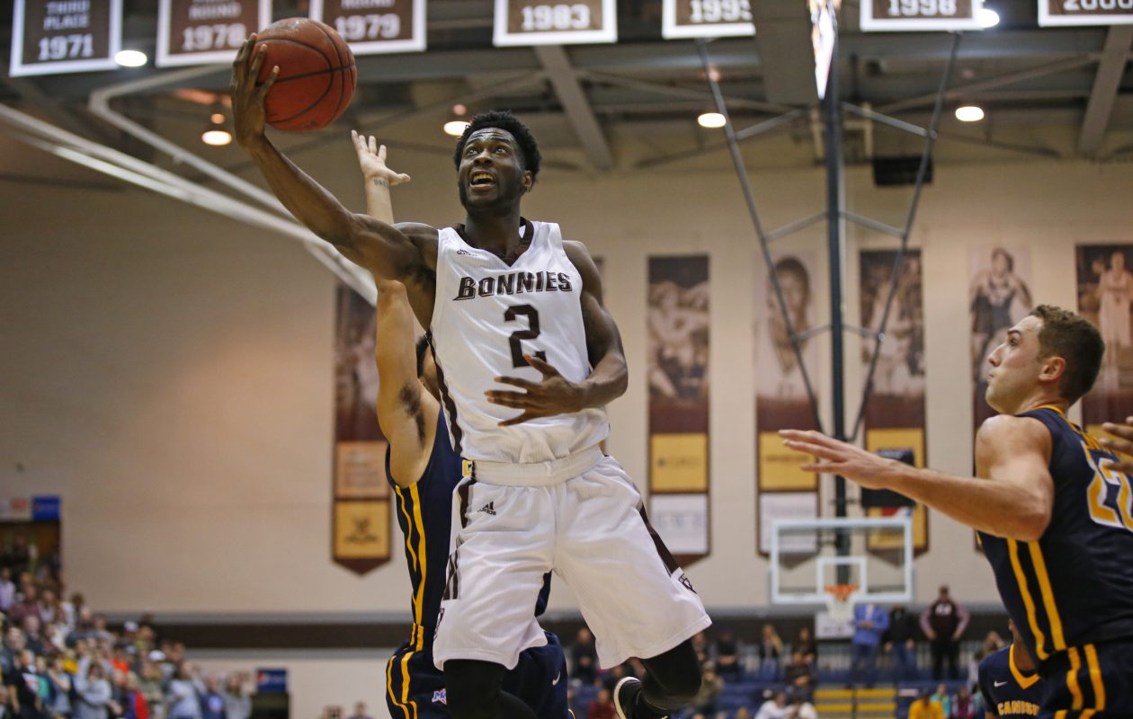 Matt Mobley is part of a dynamic backcourt that has helped build big expectations at St. Bonaventure. (Harry Scull Jr./Buffalo News)