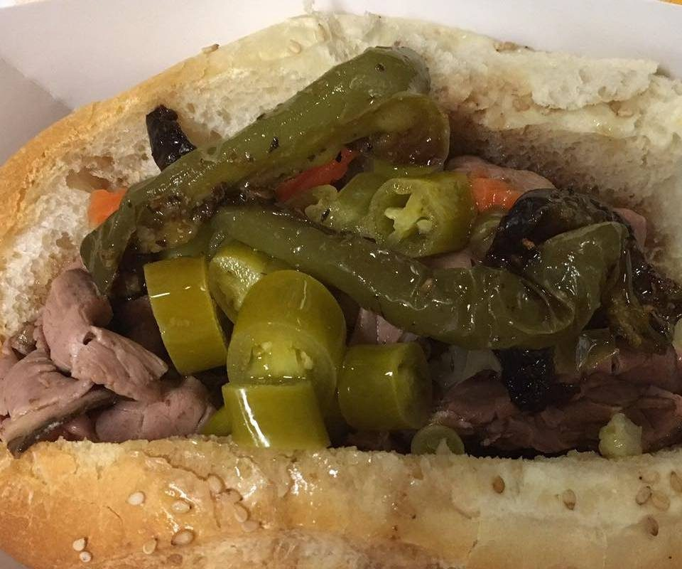 Italian beef, Chicago style, is one of the hot sandwiches at City Fare Cafe. (City Fare Cafe)