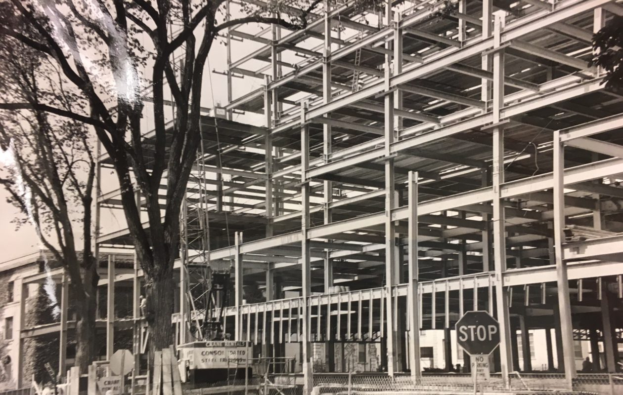 A photograph from The News archives from Aug. 26, 1970, shows work progressing on a 10-story addition to Children's Hospital. (News file photo)