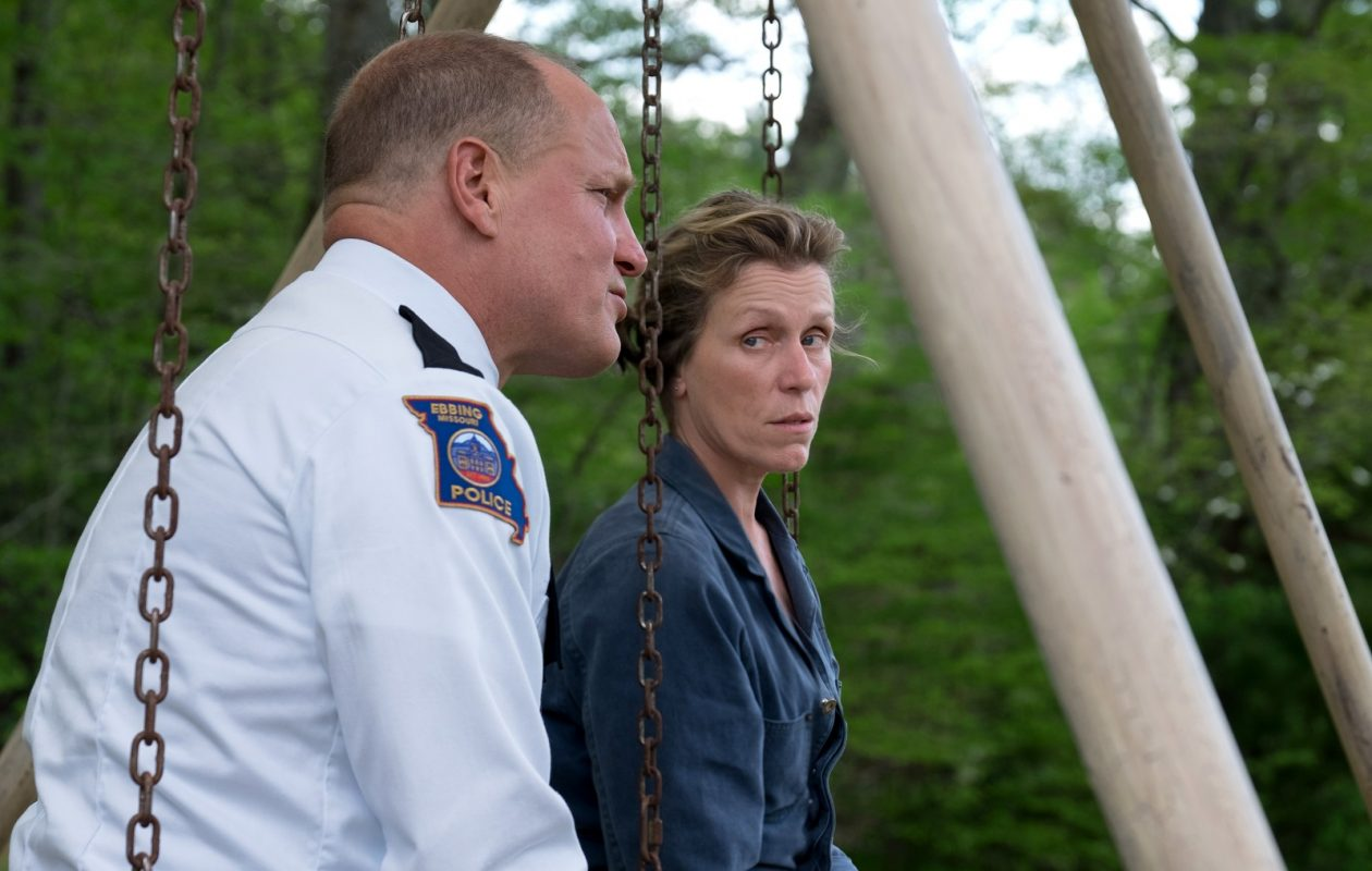 Woody Harrelson and Frances McDormand star in 'Three Billboards: outside Ebbing Missouri.'