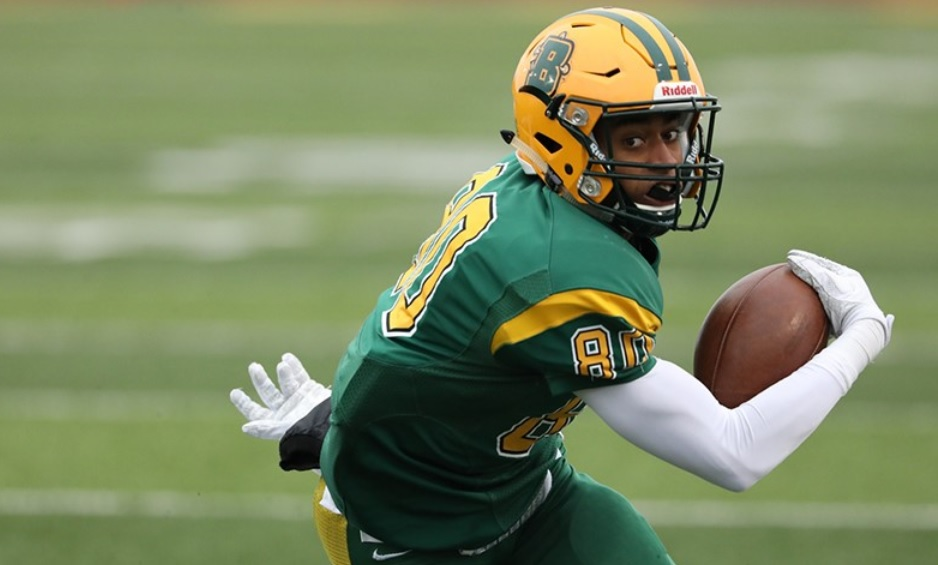 Wideout DaQuan Hubbard had five catches for 125 yards in Brockport's quarterfinal victory over Delaware Valley. (Brockport Athletics)