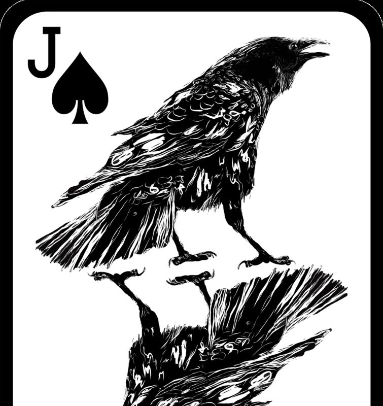 Crow playing card by JackSephton