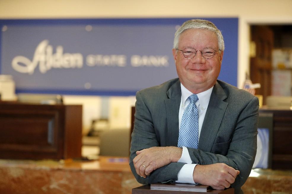 Richard D. Koelbl, Alden State Bank's president and CEO. (Mark Mulville/Buffalo News)
