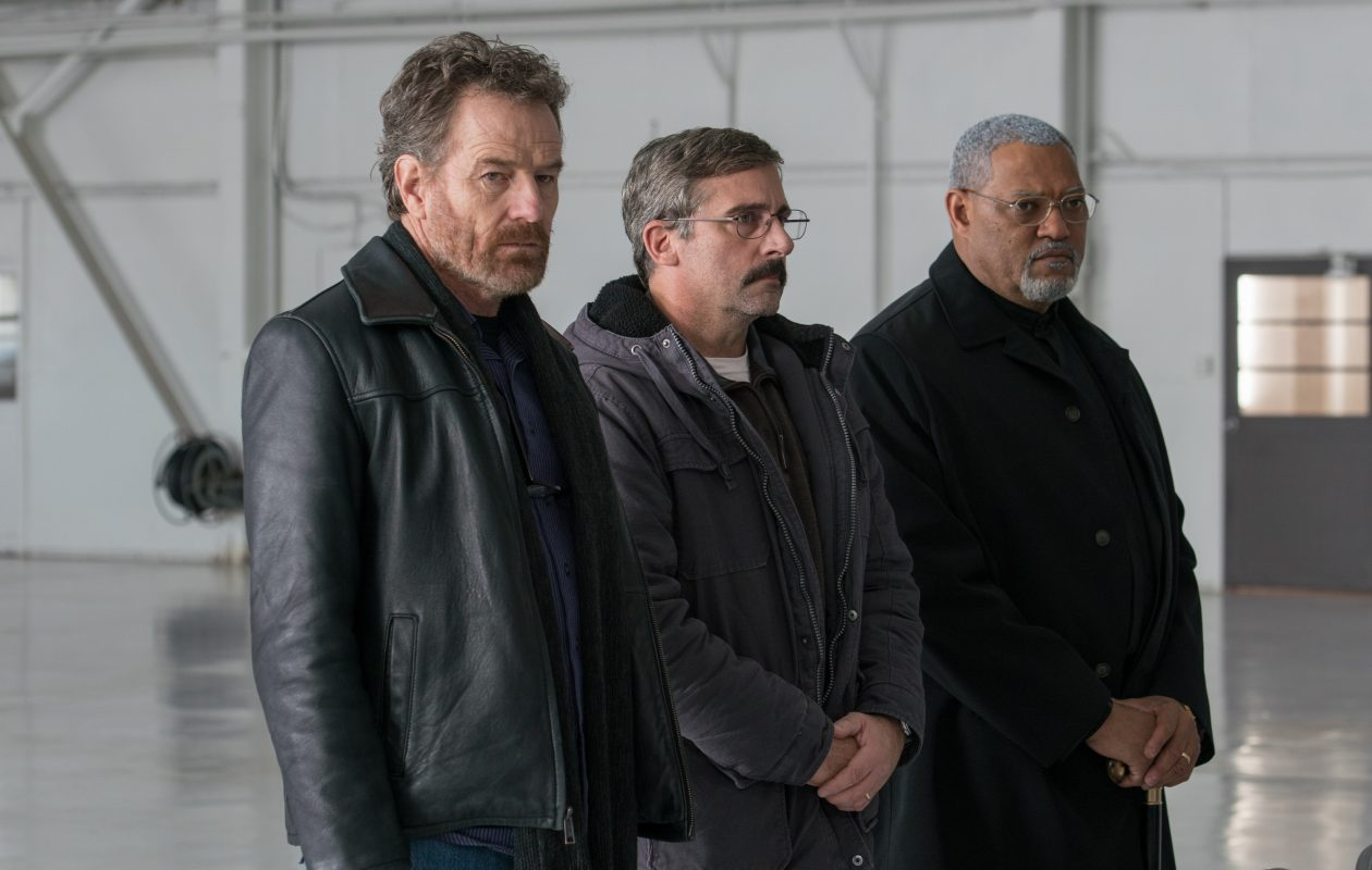 Bryan Cranston, left, Steve Carrell and Laurence Fishburne are old war buddies on one last mission in 'Last Flag Flying,' one of Jeff Simon's favorite films from 2017. (Photo by Wilson Webb)