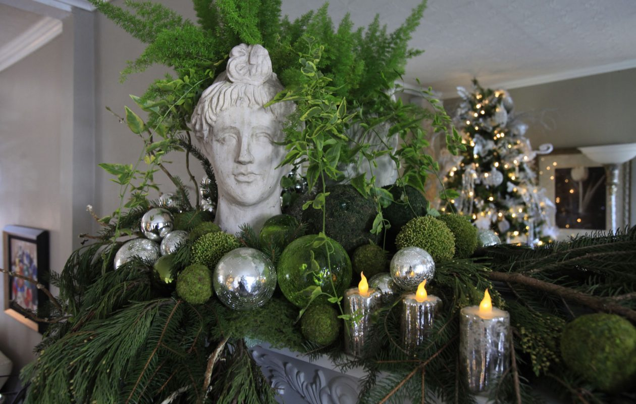 A mantel was decked out during a past Lewiston Holiday Tour of Homes.  This year's tour is scheduled for Dec. 2-3. (Harry Scull Jr. / News file photo}