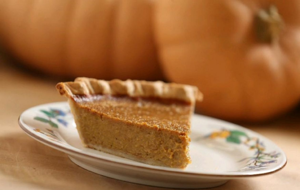 Pumpkin pie is a better holiday dessert choice that other pies that have top crusts. Skip the whipped cream and an average slice has about 300 calories. (Sharon Cantillon/News file photo)