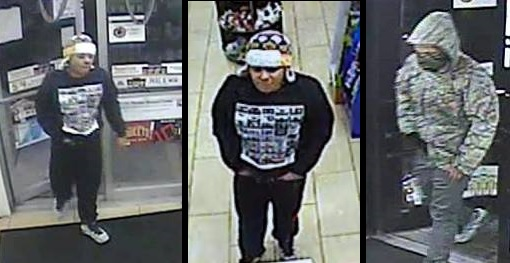 Police are looking for the suspect in the robberies of two 7-Elevens in Buffalo. (Photos courtesy Buffalo Police)