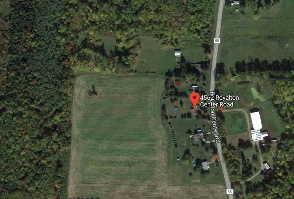 A Google image of the area in Royalton where a hunter was found dead beneath a tree stand Wednesday. (Google image)