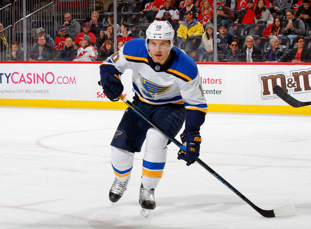 St. Louis' Brayden Schenn entered the weekend tied for fourth in the NHL with 30 points (Getty Images).