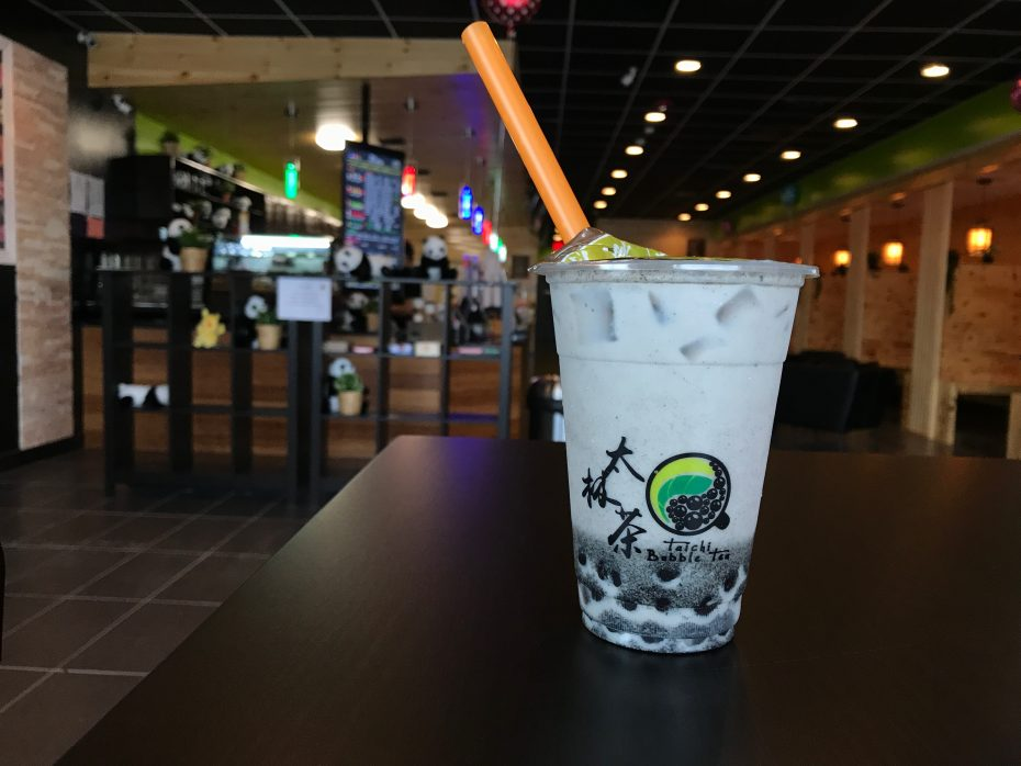 sesame bubble tea