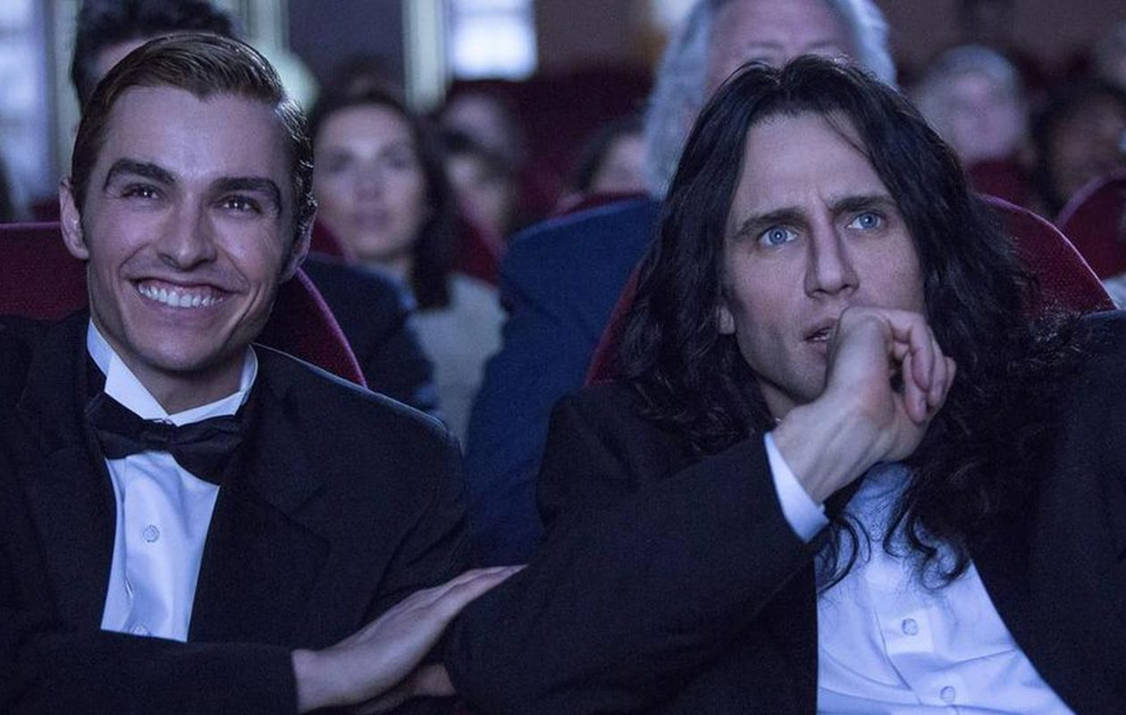 Dave Franco, left, and James Franco in start in 'The Disaster Artist,' about the making of the movie 'The Room.' (New Line Cinema)