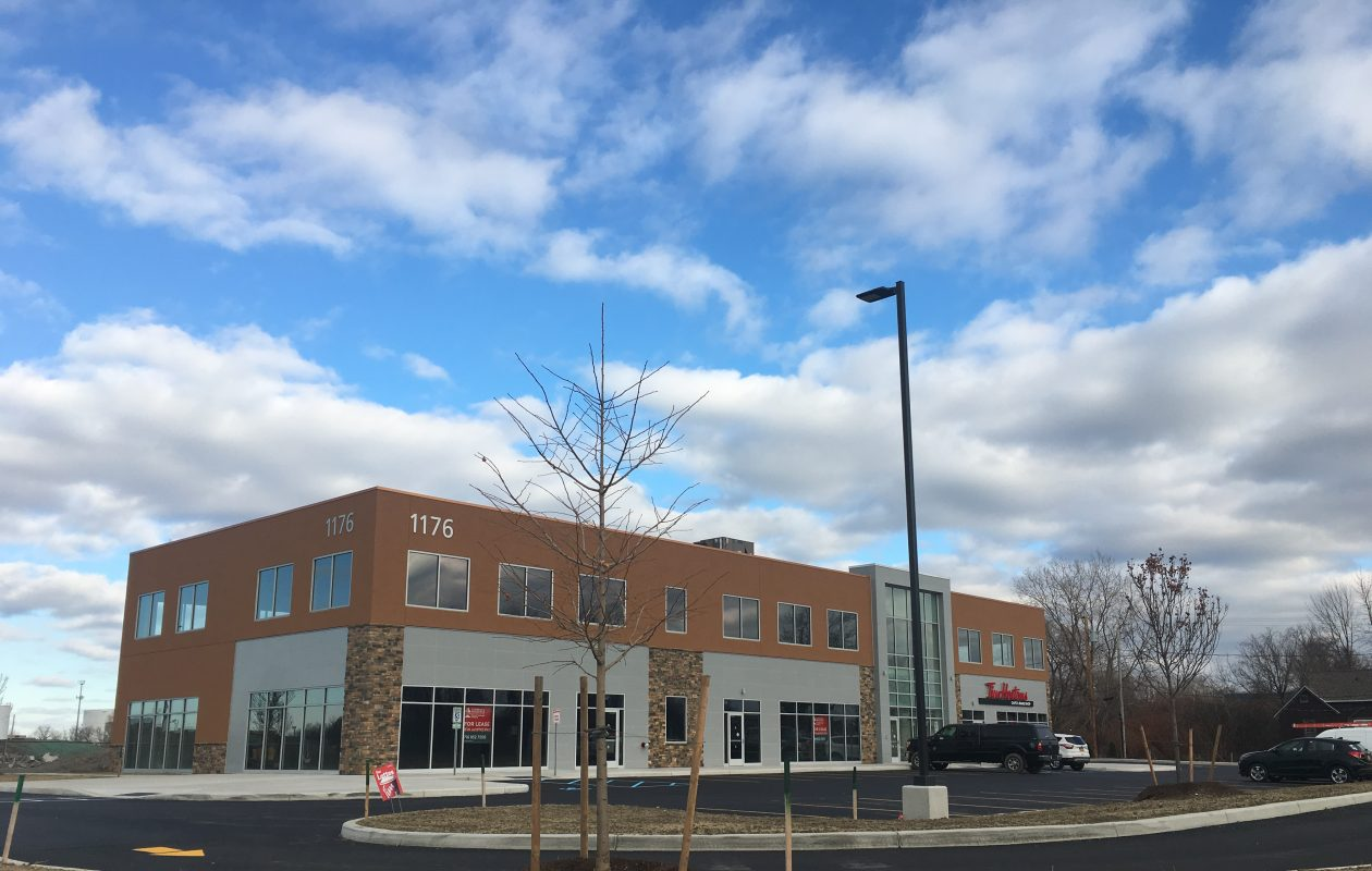 Tim Hortons is the first tenant in a new commercial building on South Park Avenue owned by mechanical contractor Danforth.
