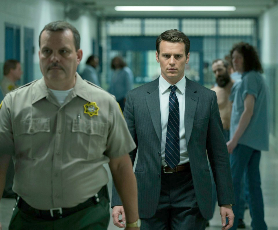 "Jonathan Groff (background) in ""Mindhunter"" on Netflix. (Patrick Harbron, Netflix)"