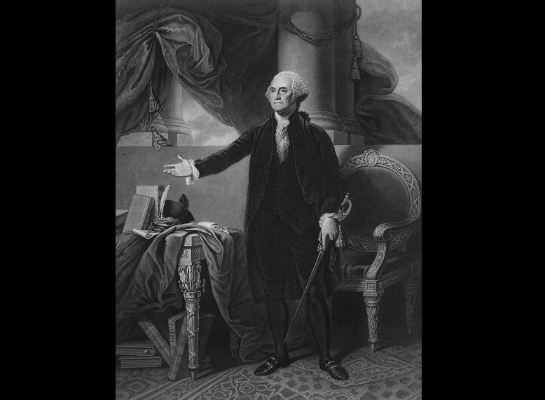 Portrait of George Washington by Gilbert Stuart. (Library of Congress)