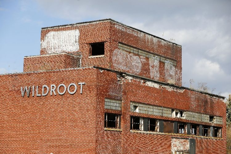 Exterior of the former Wildroot building on Bailey Avenue in Buffalo on Wednesday, Nov. 8, 2017. (Mark Mulville/Buffalo News)