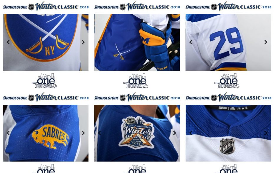 The Sabres offered snippets of the jersey for the 2018 Winter Classic.