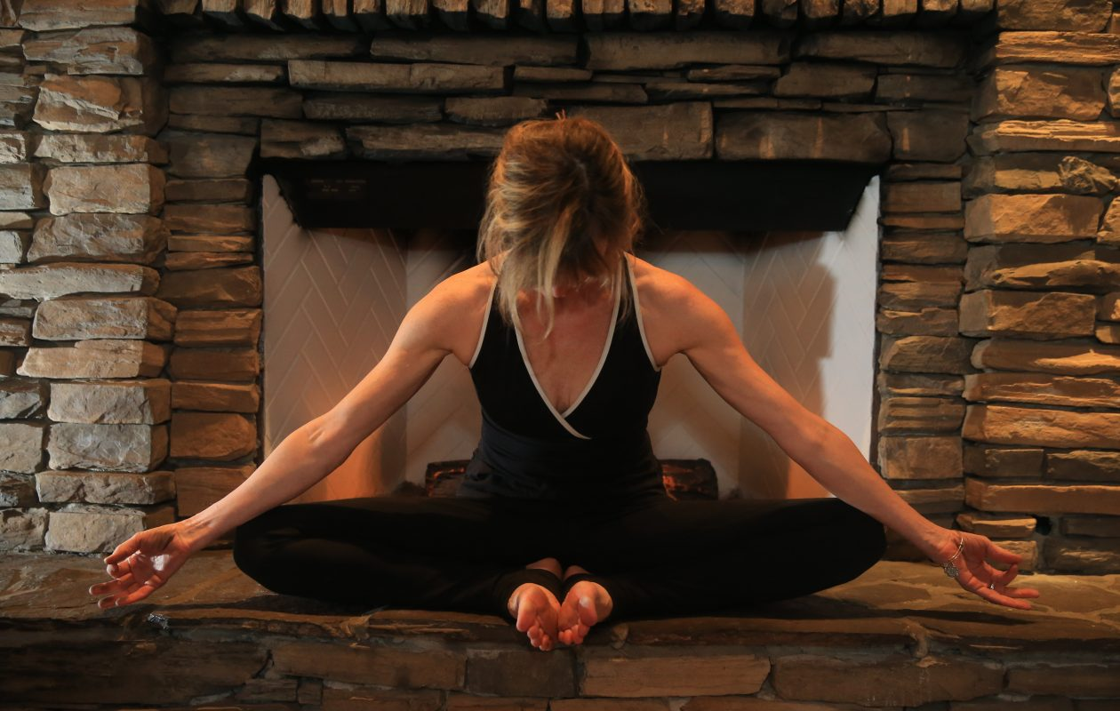 Sue Zinter, owner of Some Cura Yoga on Grand Island, believes in the power of meditation. (Sharon Cantillon/Buffalo News)