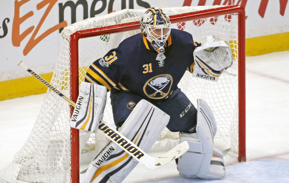 Chad Johnson will get the call in goal for the Sabres tonight. (Robert Kirkham/News file photo)