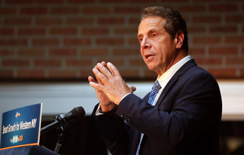 Gov. Andrew Cuomo spends time saltwater fishing off Long Island. (Sharon Cantillon/News file photo)