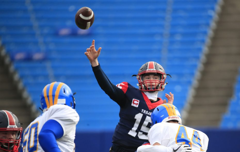 Southwestern quarterback Cole Snyder is committed to Rutgers. (Harry Scull Jr./Buffalo News)