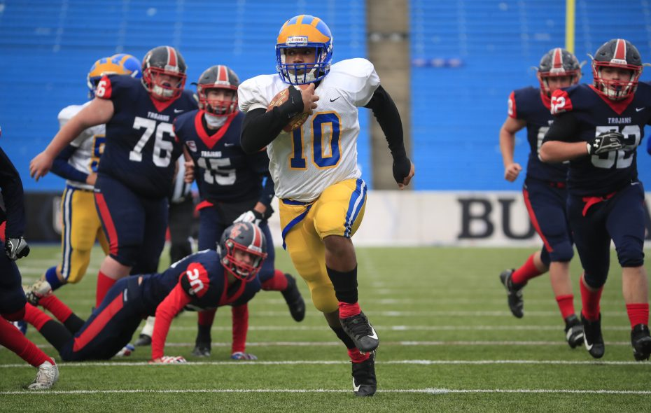 Cleveland Hill running back Aaron Wahler scored 27 touchdowns during the 2017 season. (Harry Scull Jr./Buffalo News)