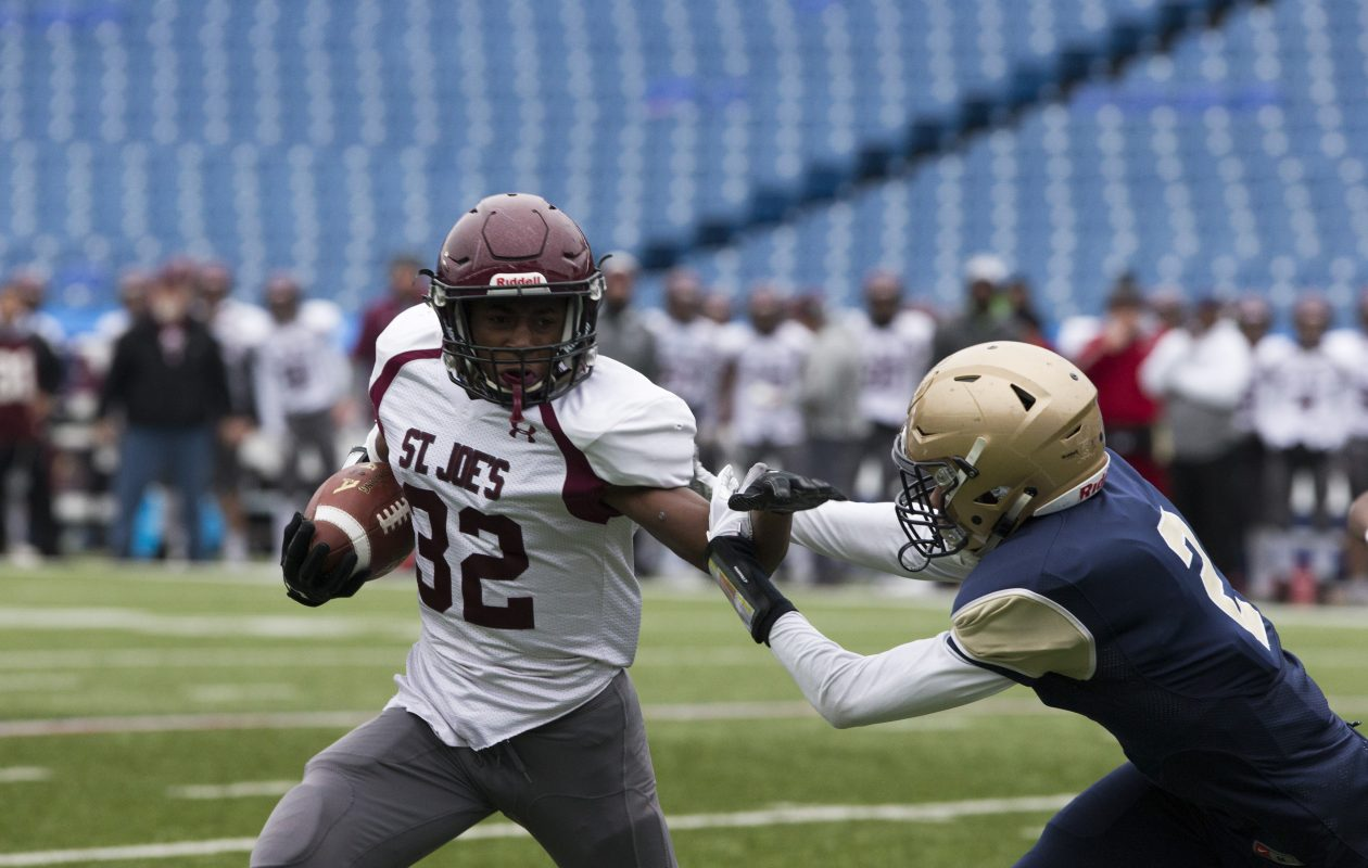 The police report charging St. Joe's running back Jaden Lofton said the incident took place on  June 6. (John Hickey/Buffalo News)