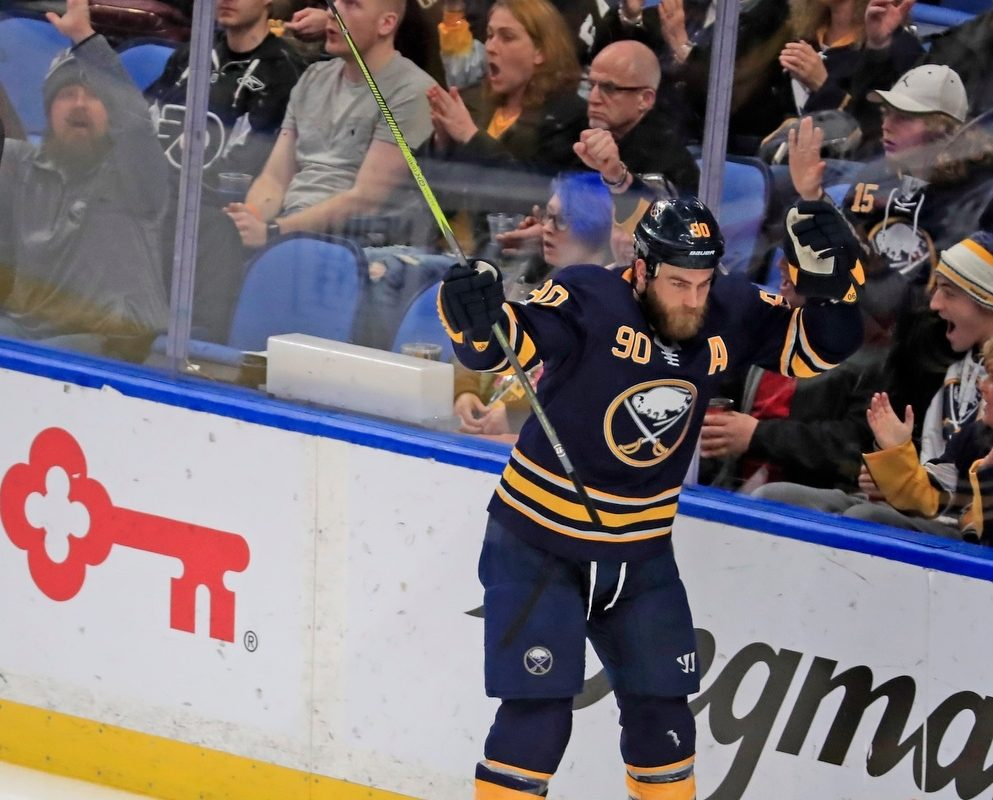 Ryan O'Reilly is a new man after seeing his son born. (Harry Scull Jr./Buffalo News)