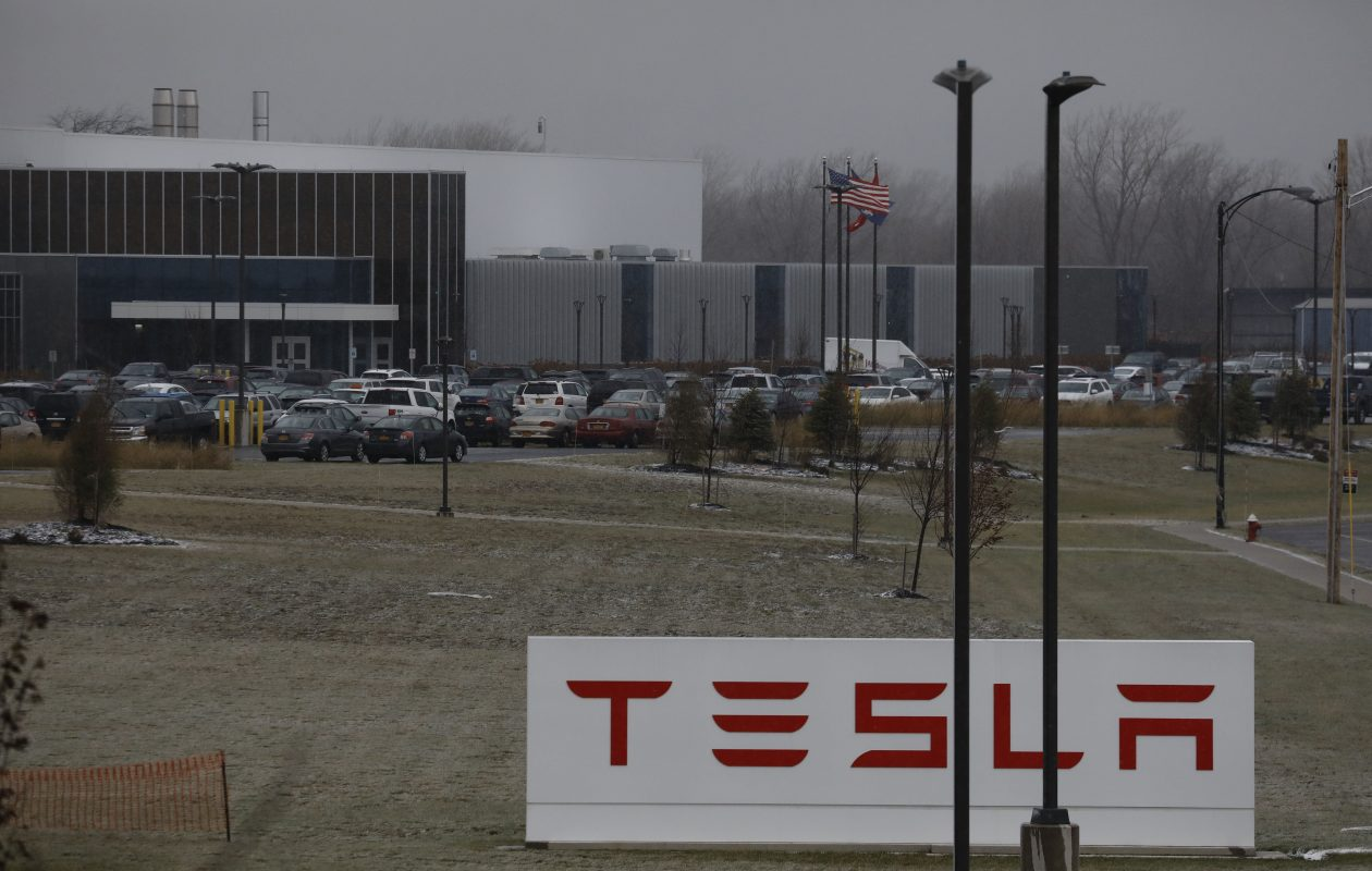 The Tesla plant at RiverBend, Wednesday, Dec. 6, 2017.  (Derek Gee/Buffalo News)