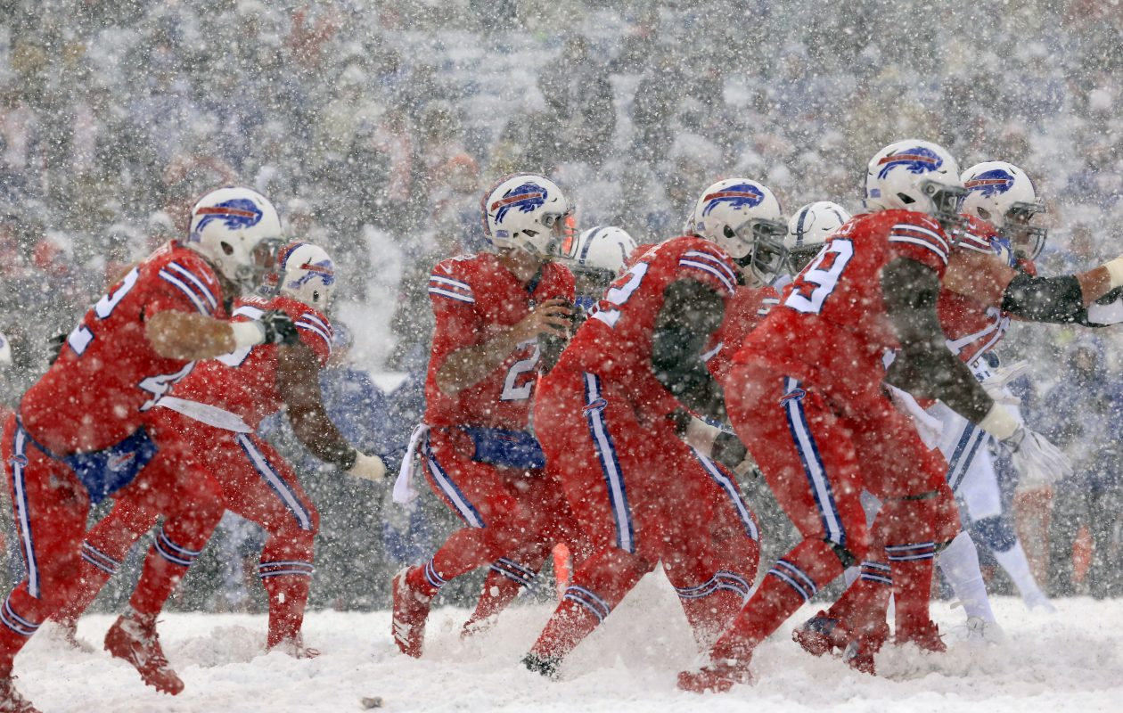 Bills quarterback Nathan Peterman left Sunday's game against the Colts in the third quarter because of injury. (Harry Scull Jr./Buffalo News)