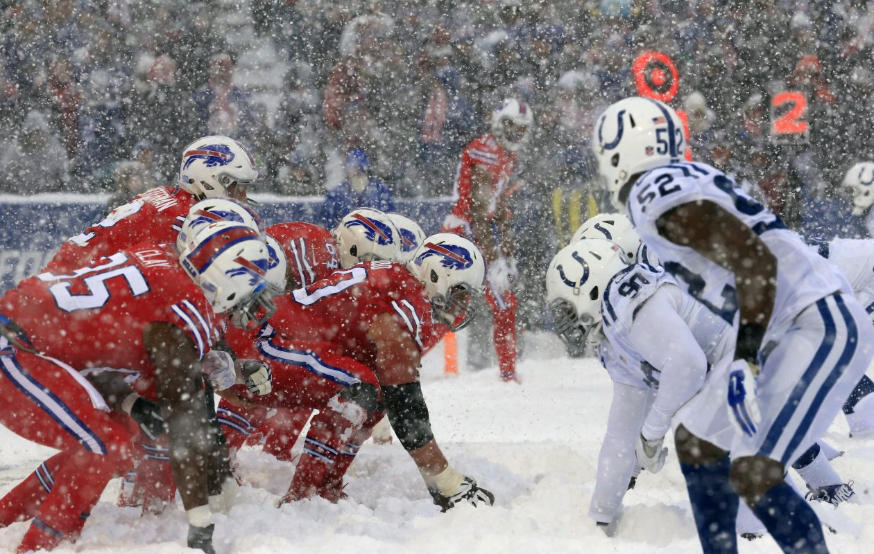 The last time the Bills faced the Colts was the 'snow game' at New Era Field on Sunday, Dec. 10, 2017. (Harry Scull Jr./Buffalo News)