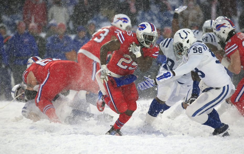 Buffalo Bills running back LeSean McCoy runs against the Indianapolis Colts during overtime at New Era Field on Sunday, Dec. 10, 2017. (Harry Scull Jr./Buffalo News)