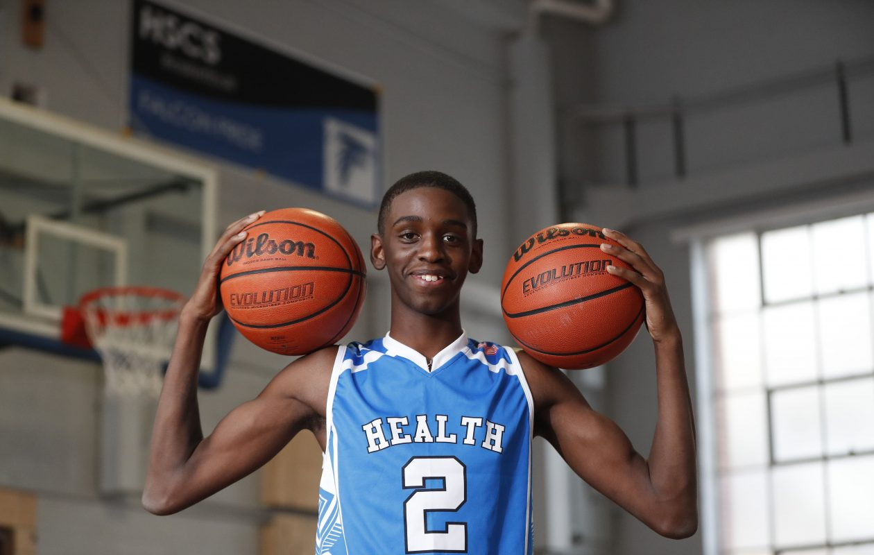 Former Health Sciences Charter School point guard Davonte Gaines. (Mark Mulville/Buffalo News)