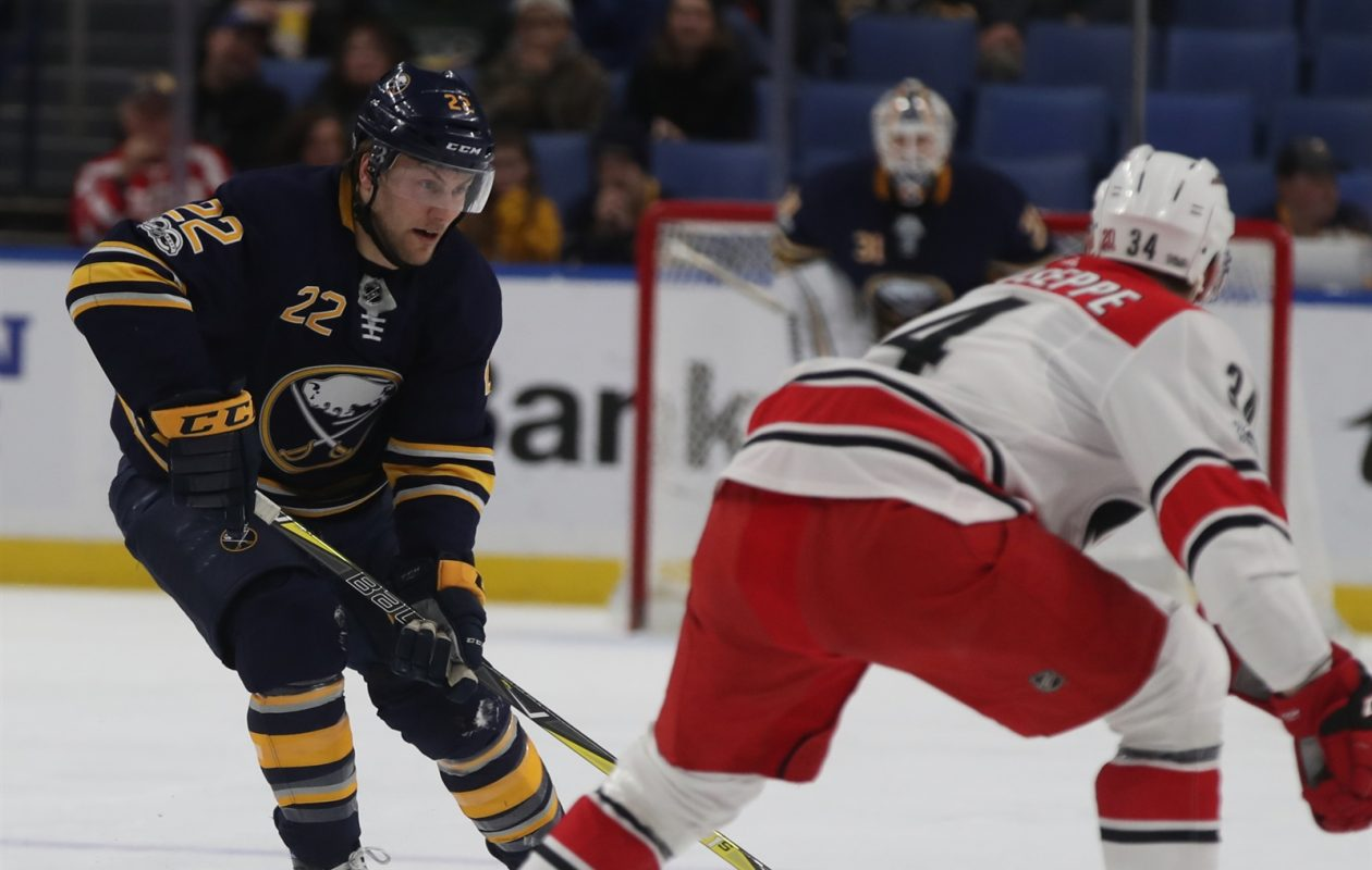 The Sabres' Johan Larsson has been part of a solid penalty-kill unit. (James P. McCoy/Buffalo News)