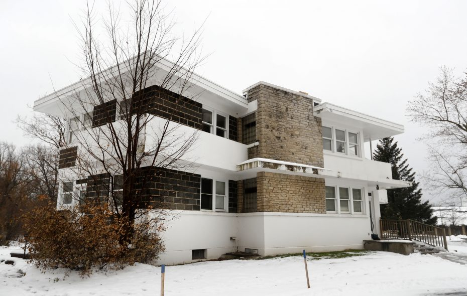 The home at 895 North Forest Road in Amhrest was designed in 1941 by Sebastian Tauriello, an architect who was influenced by Frank Lloyd Wright.  (Mark Mulville/Buffalo News)