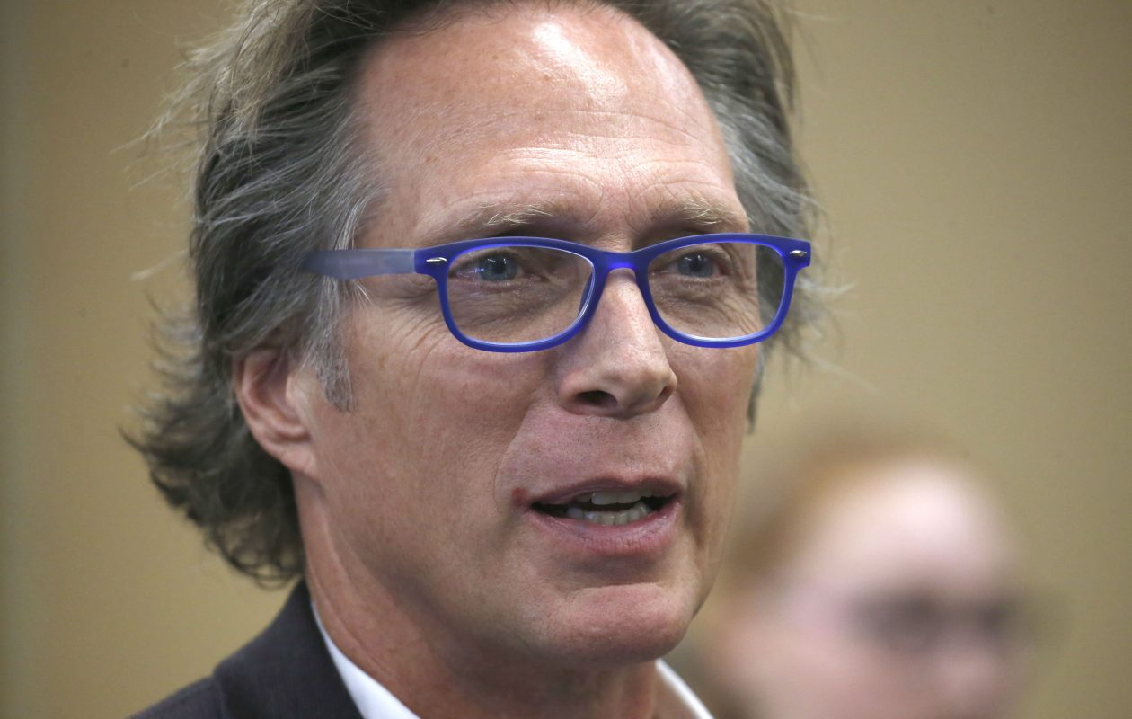 Actor William Fichtner returned to his alma mater to talk with students today at Maryvale High School in Cheektowaga on Friday.    (Robert Kirkham/Buffalo News)