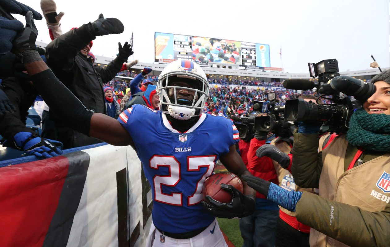 Tre'Davious White, who had the game-clinching interception Sunday, played another strong game for the Bills. (James P. McCoy/Buffalo News)