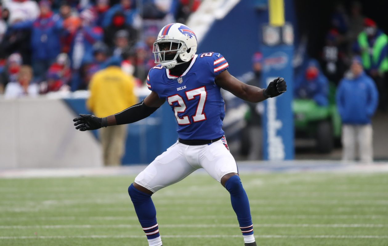 Buffalo Bills cornerback Tre'Davious White had plenty to celebrate Sunday against the Dolphins. (James P. McCoy/Buffalo News)