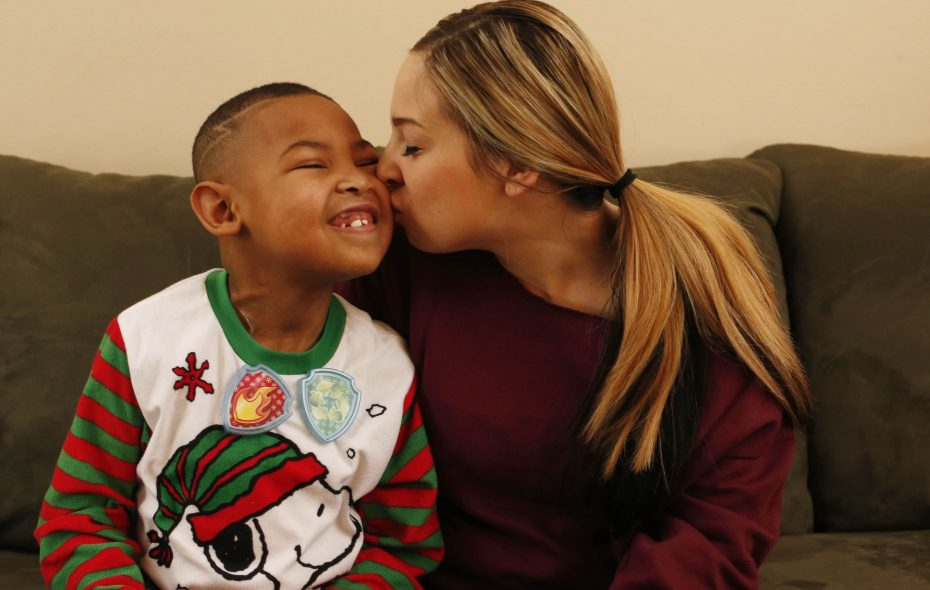 Gene Hilson III, 6, is slated to have a life-saving kidney transplant in Pittsburgh on the day after Christmas, getting a kidney from his mother, Angela Cheff.  (Derek Gee/Buffalo News)