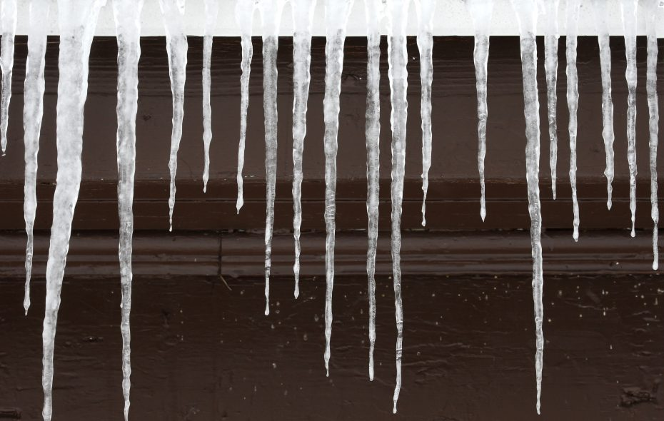 Icicles formed on the roof line of the Field House in Emery Park in South Wales on Tuesday, Dec. 26, 2017.  (Robert Kirkham/Buffalo News)