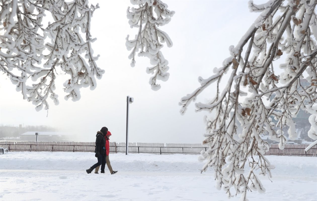 Some of the Buffalo Niagara's coldest air of the season is expected to freeze more of Lake Erie and Lake Ontario and add to the icy landscape around Niagara Falls. (Sharon Cantillon/Buffalo News)