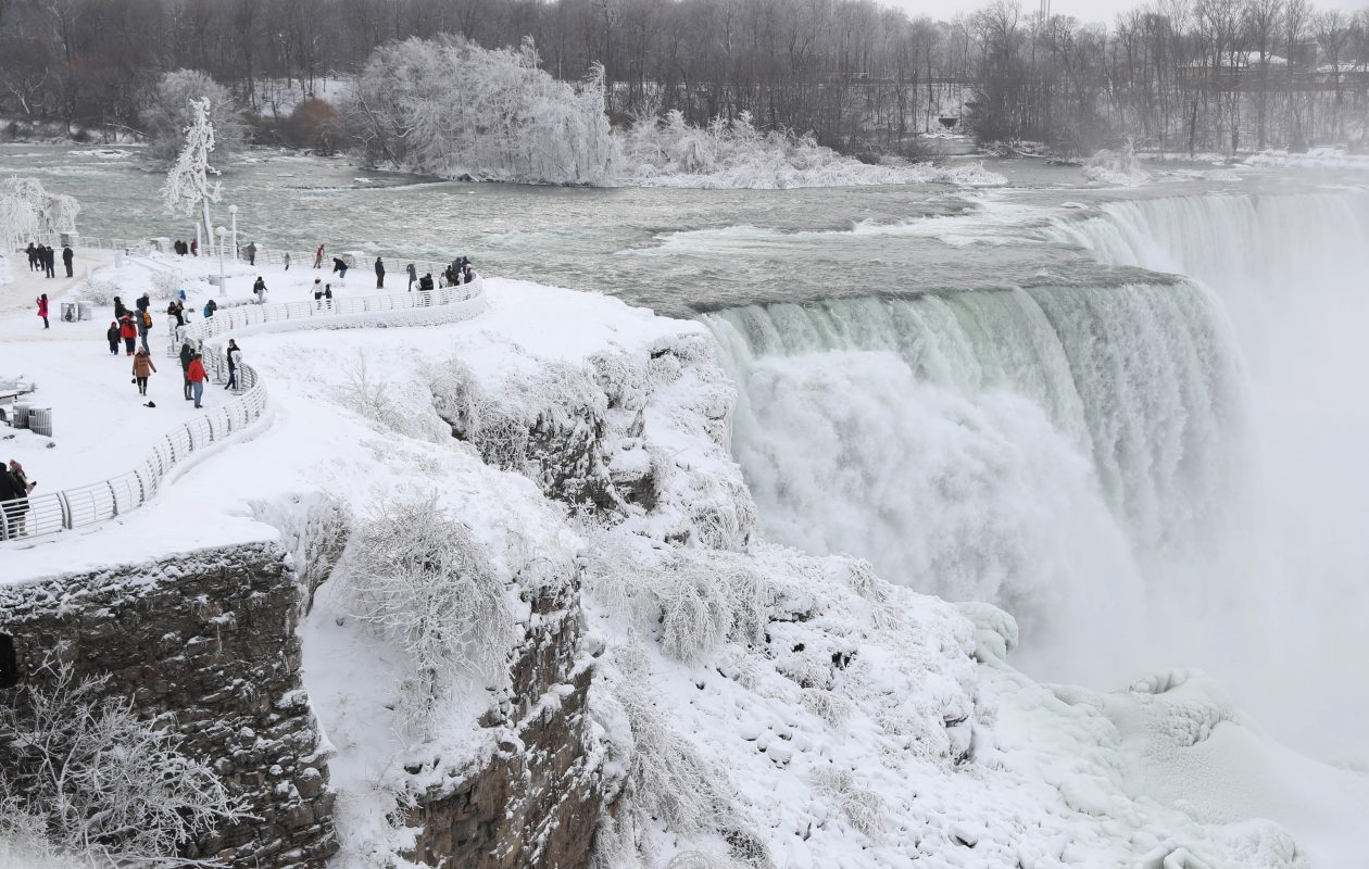 The Niagara Falls wastewater plant reported another sewage overflow Thursday as the result of sewage and snow melt.  (Sharon Cantillon/Buffalo News)