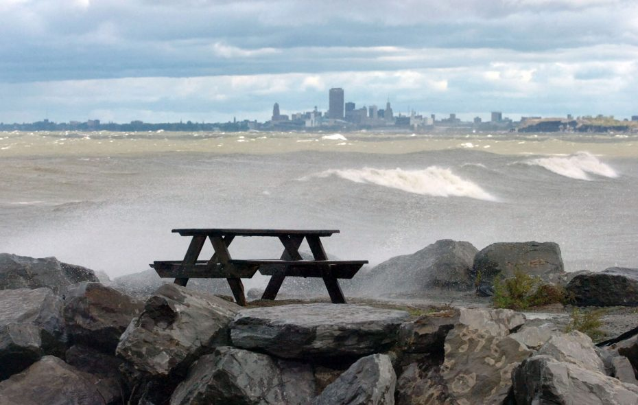 A view from Hamburg Town Park, where an observation deck may land the town in trouble with the state. (News file photo)