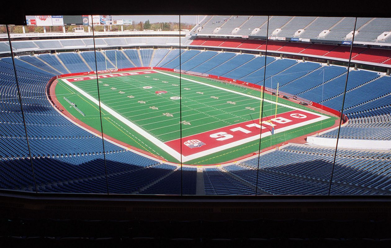 A file shot of an empty stadium featuring red end zones (News file photo)