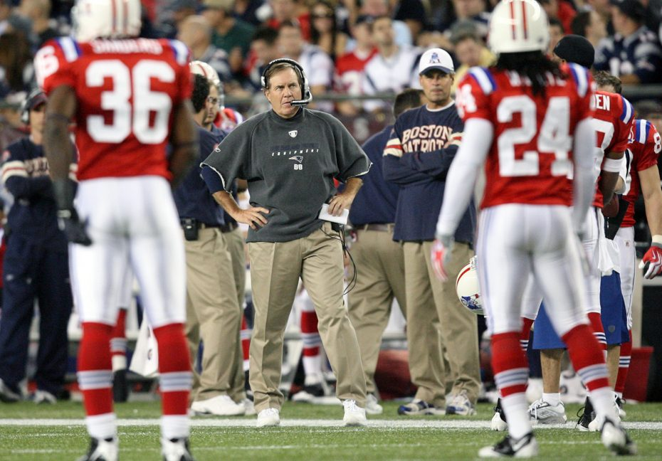 New England Patriots coach Bill Belichick watches the field in a 2009 Bills- Patriots game. (James P. McCoy News file photo) bfcb4fbce